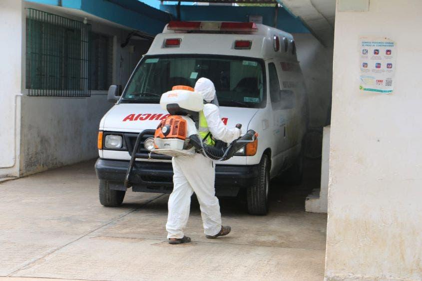 Continúan sanitizando espacios y oficinas en JMM.