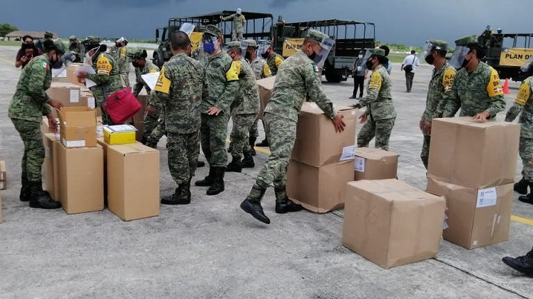 Arriban a Mérida, 1.7 toneladas de insumos médicos.