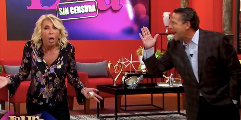 Laura Bozzo y Alfredo Adame se pelean en pleno programa en vivo