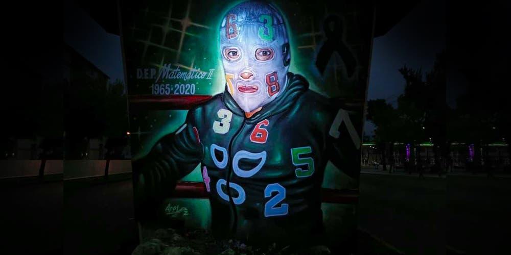 """Dedican mural al """"Matemático II"""": luchador fallecido por Covid-19"""