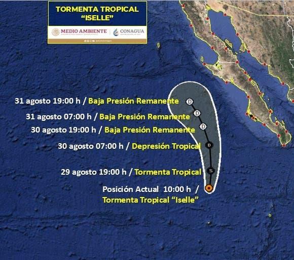 Tormenta 'Iselle' ocasionará fuertes lluvias para BCS