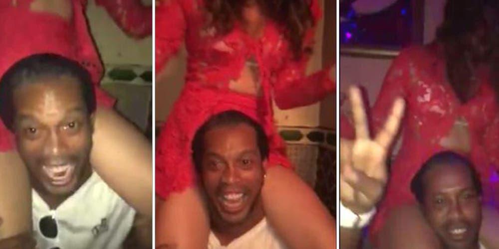 Así organiza fiestas Ronaldinho dentro de su 'celda'