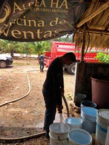 Por fallas de CFE familias se quedaron sin agua