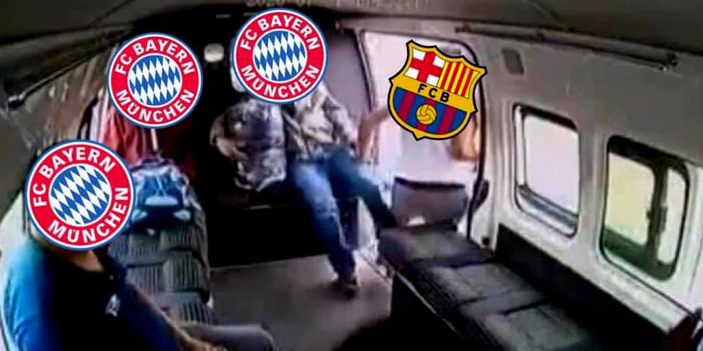 Memes del Barcelona vs Bayern Múnich