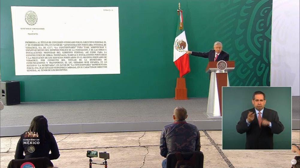 Privatización simulada cómo concesión la del puerto de Veracruz: AMLO