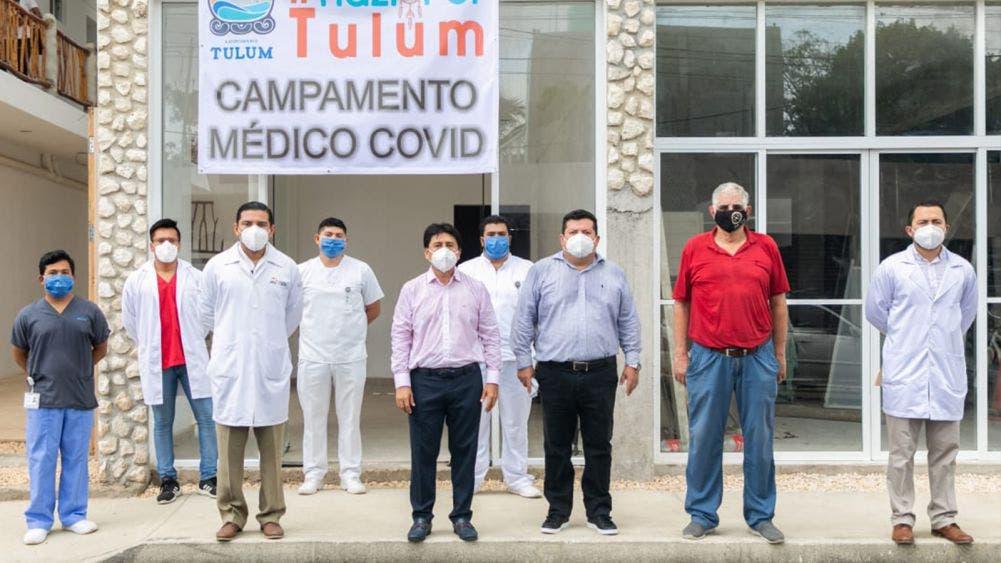 Inaugura, Víctor Mas Tah, Campamento Médico Covid