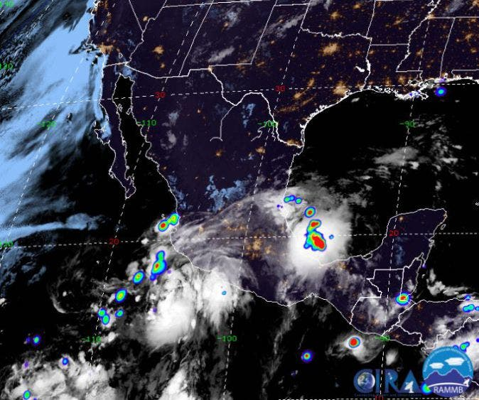 Pronóstico del clima para hoy domingo 9 de agosto; se prevén lluvias puntuales fuertes para la Península de Yucatán.