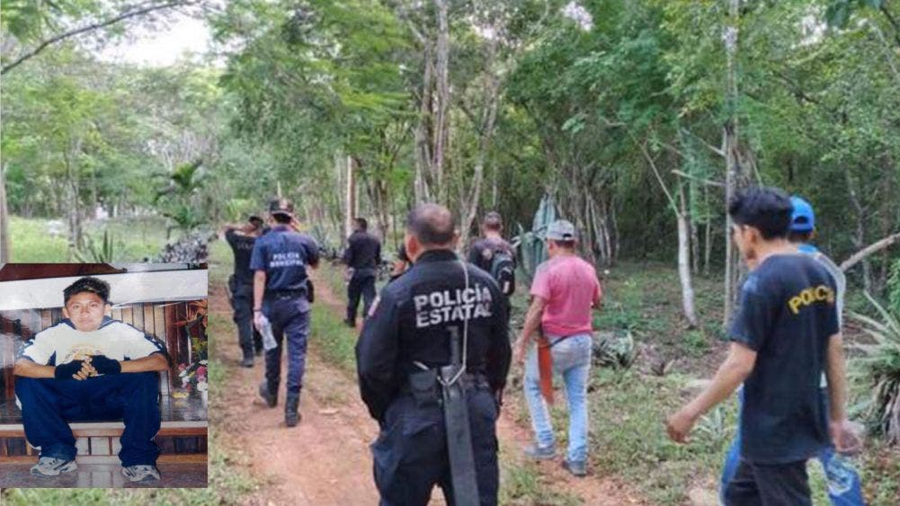 Joven extraviado en montes de Chemax es buscado por las autoridades