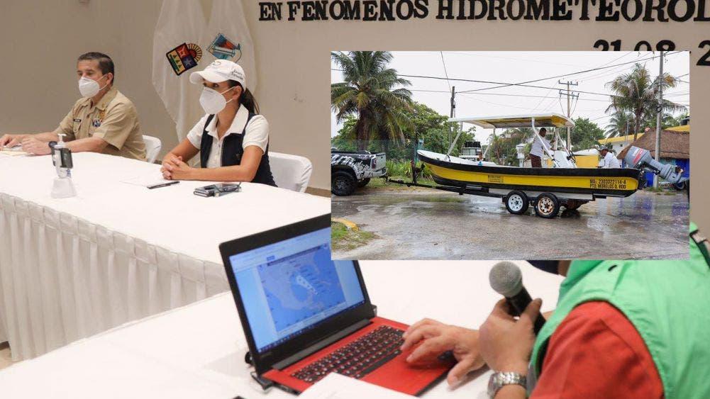 Puerto Morelos, preparado ante posibles afectaciones por fenómeno climático: Laura Fernández