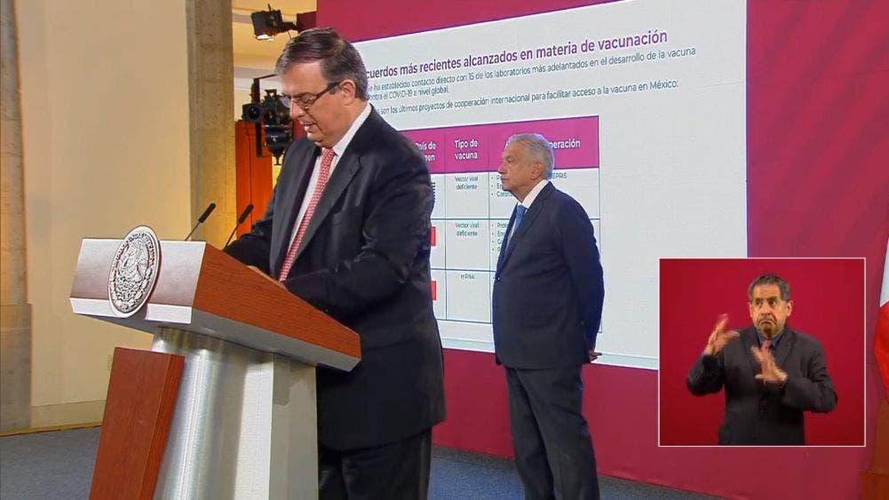 Acuerda México con EU y China compra de vacuna para Covid-19