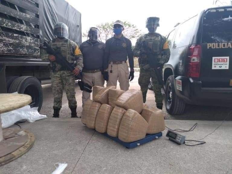 Decomisan media tonelada de marihuana con destino a Chetumal.