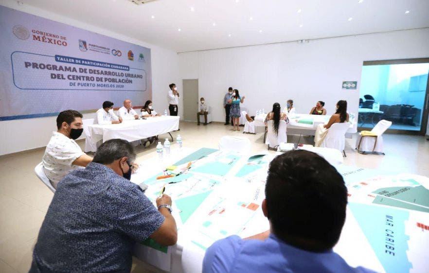 Como parte de los trabajos para la elaboración del PDU del Centro de Población de Puerto Morelos, el gobierno de la alcaldesa organiza Taller de Participación Ciudadana