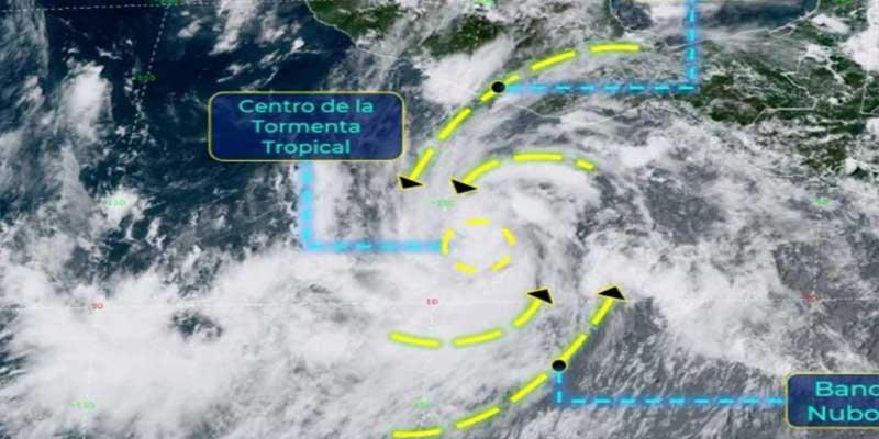 """Se forma tormenta tropical """"Genevieve""""en el Pacífico mexicano"""