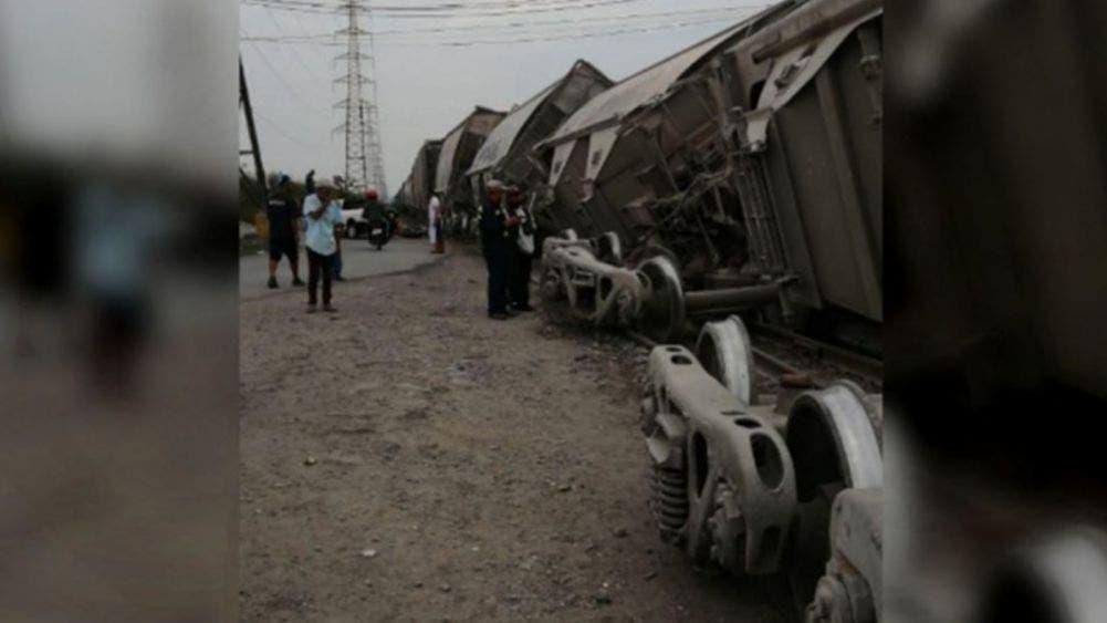Se descarrila tren en Chimalhuacán; genera intensa movilización