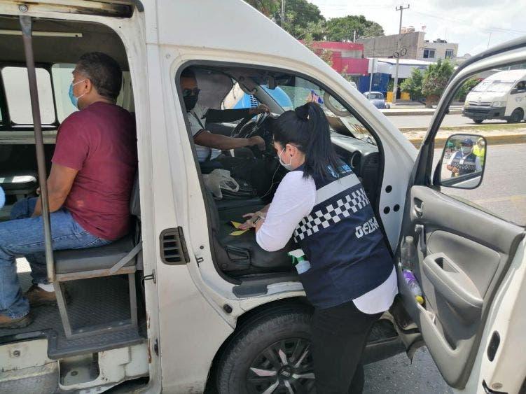 IMOVEQROO sancionó 336 operadores del servicio público entre junio a agosto