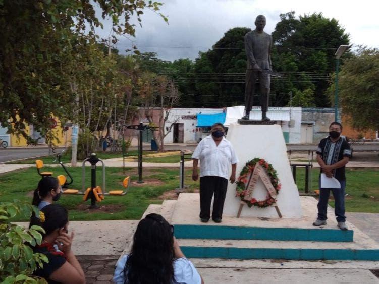 Rinden honores al caudillo maya Jacinto Pat a 171 años de su muerte.
