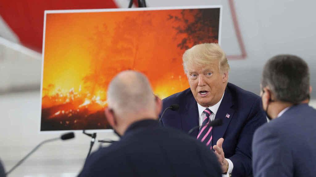 Donald Trump niega cambio climático, pese a incendios en California