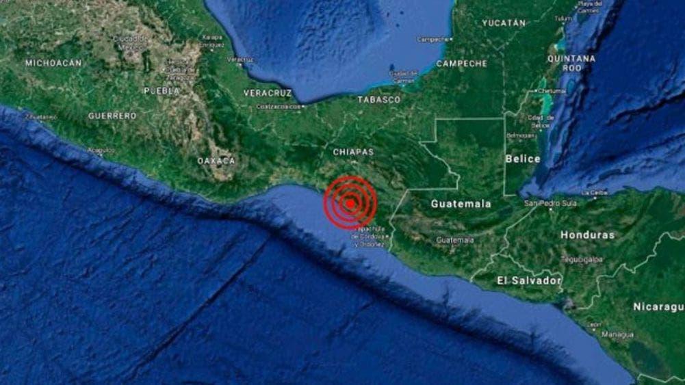 Sismo de magnitud 5.5 sacudió Huixtla, Chiapas