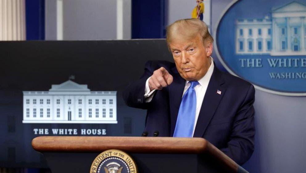 Trump no se compromete a una transición pacífica si pierde las elecciones de noviembre.