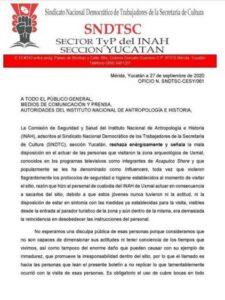 Retiran a 'influencers' de Uxmal por no cumplir medidas sanitarias