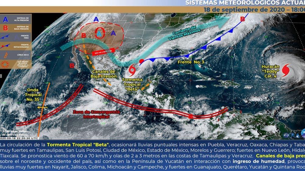 Surge nueva tormenta tropical; afectará 14 estados del país