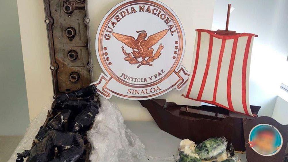 Localiza Guardia Nacional droga oculta en barco de madera