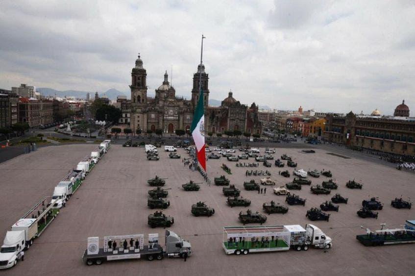 Zócalo de CdMx, testigo del Desfile de Independencia sin público