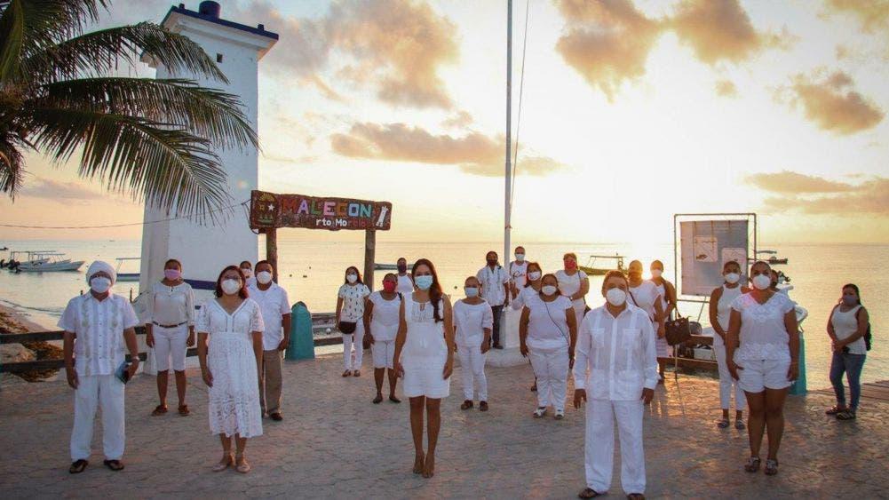 Conmemora Puerto Morelos el día internacional de la paz con llamado a la unidad