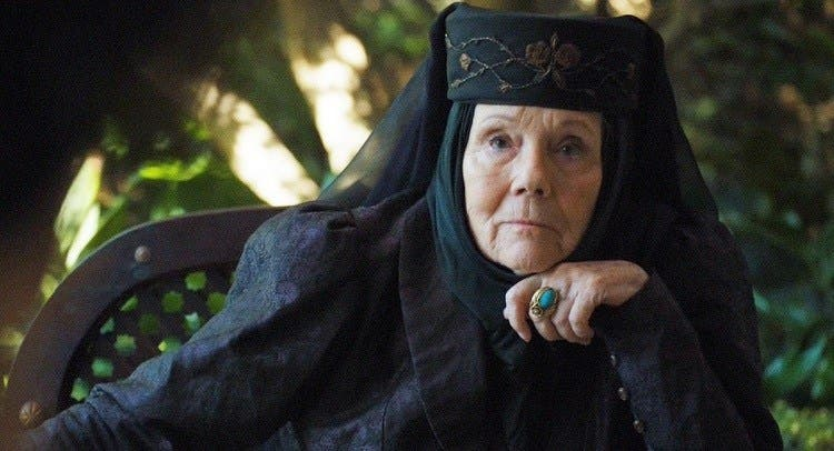 Fallece Diana Rigg actriz de Game of Thrones a causa de cáncer
