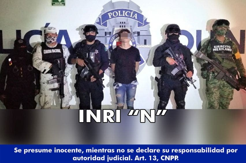 Detienen a pistolero en colonia InHouse de Playa del Carmen.