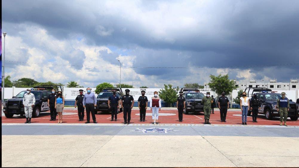 Refuerzan equipamiento de policía en Playa Del Carmen