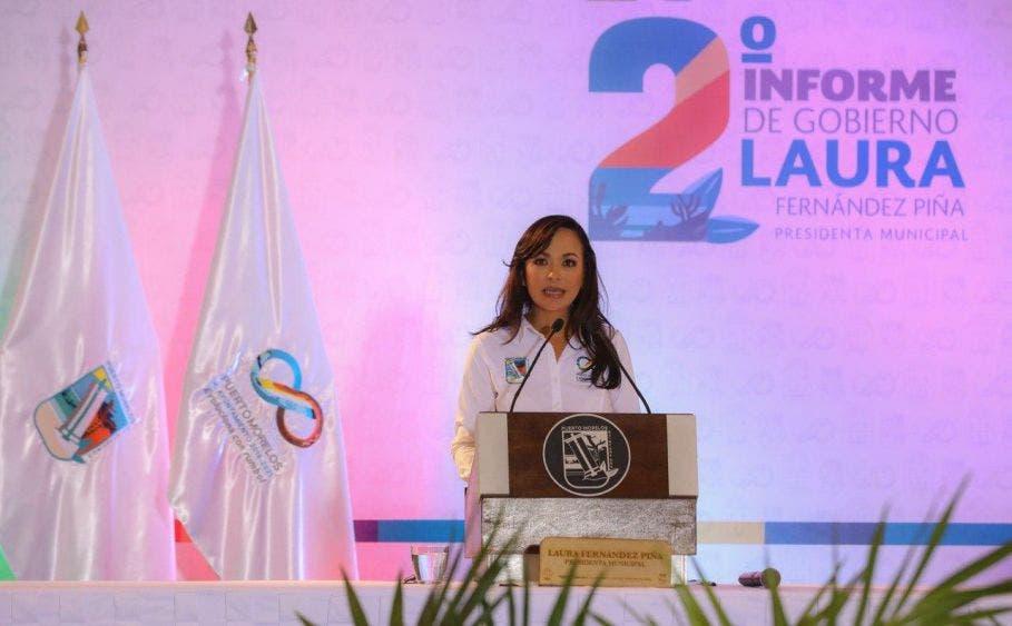 La alcaldesa rinde su Segundo Informe de Gobierno, en el que hace un desglose preciso del estado que guarda la administración pública municipal en el periodo 2018-2021