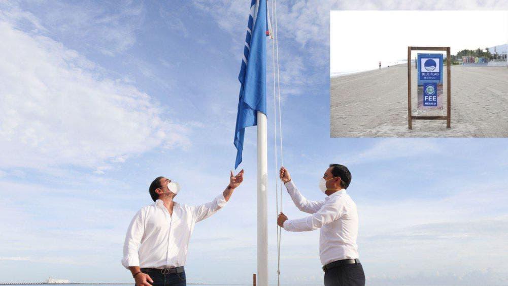 Playas del malecón de Progreso gana certificación Blue Flag