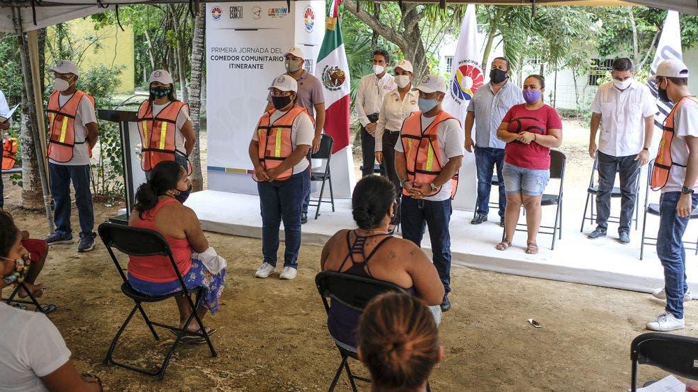 En Cancún primero los pobres, gobierno pone en marcha comedor comunitario