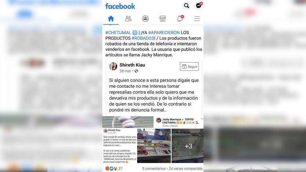 Ladrones usan redes sociales como plataforma de ventas