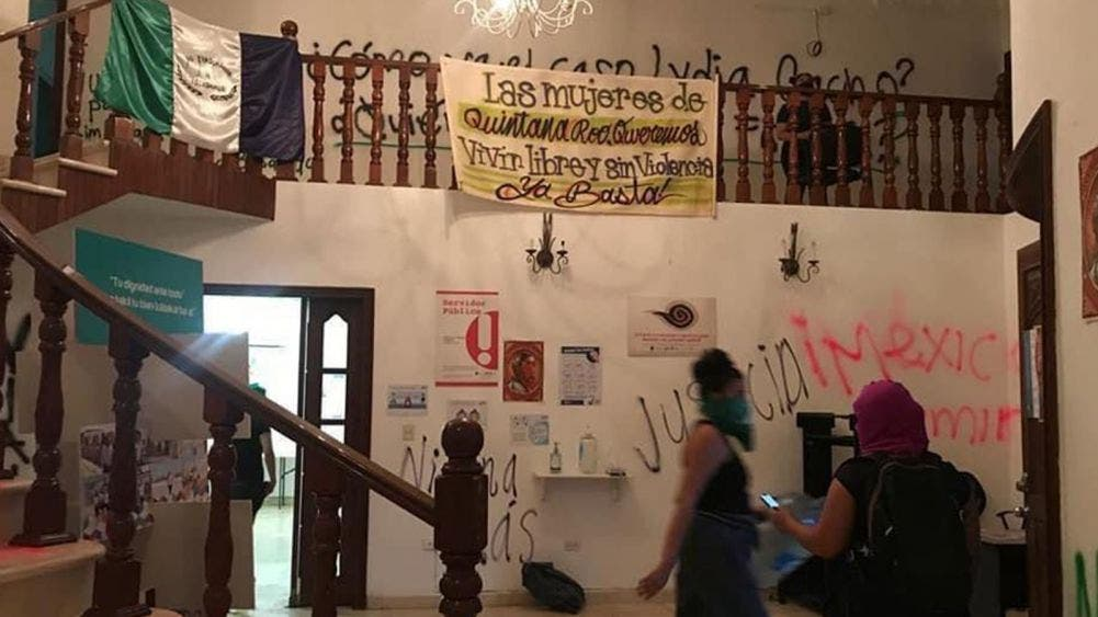 """Califica CEDHQROO vandalismo en sus oficinas como """"actos pacíficos"""""""