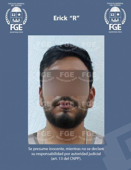 """Presunto violador se escondía en Playa del Carmen; a Erick """"R"""" era buscado por la Policía Ministerial del Estado de México."""