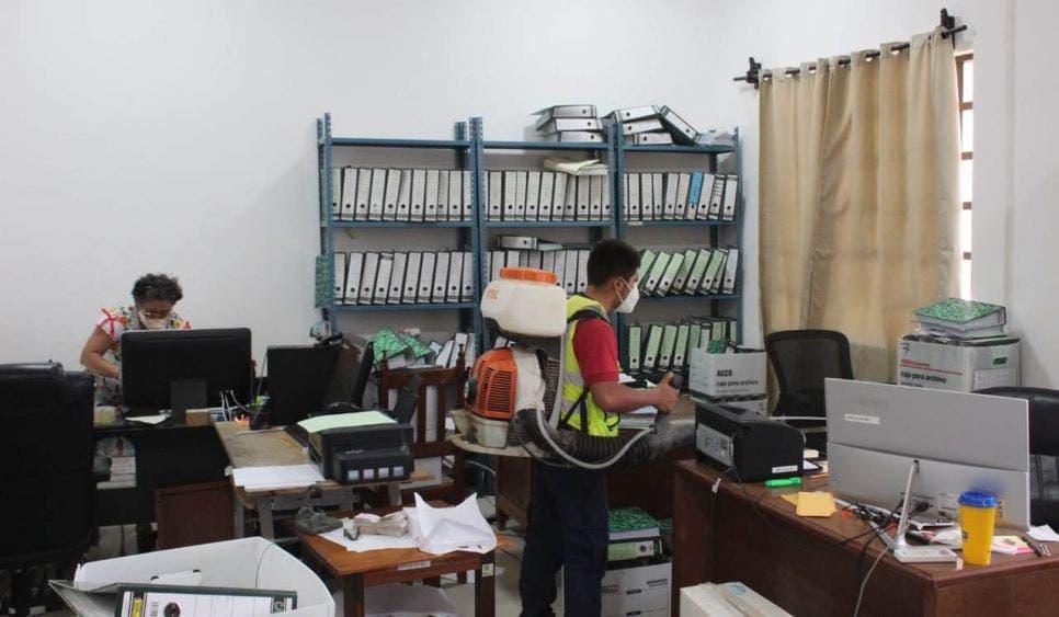 Jornadas de desinfección en oficinas municipales de JMM.