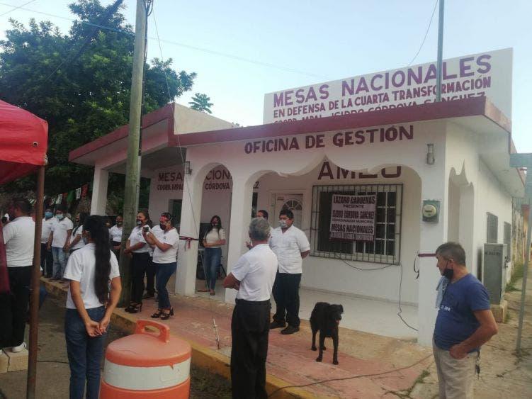 Inauguran oficinas de la 4T en Lázaro Cárdenas.