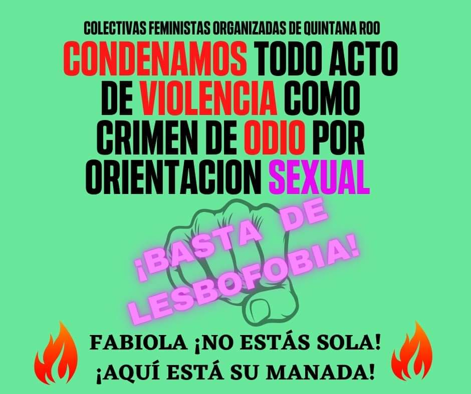 Denuncia Marea verde caso de lesbofobia en Chetumal.