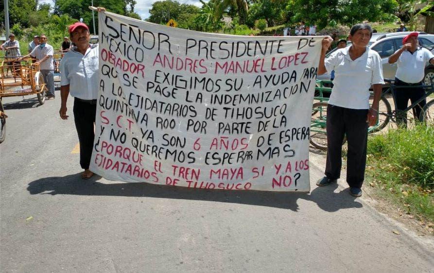 'No nos obliguen a bloquear carretera', advierten ejidatarios de Tihosuco.