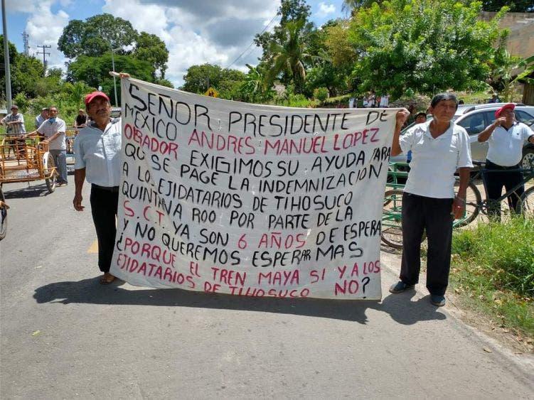 Mayas de Tihosuco viajan a Chetumal en respuesta a demandas.