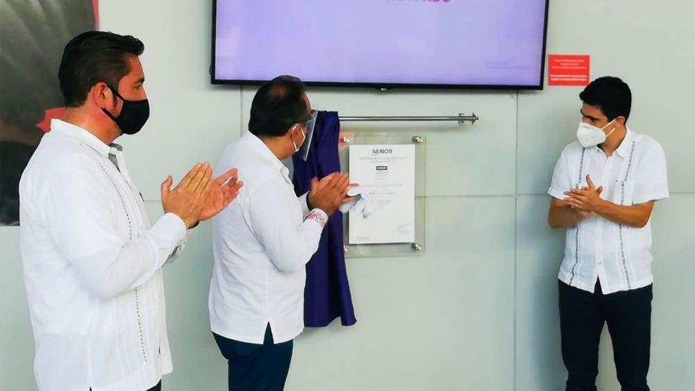 Certifican protocolos sanitarios en la terminal de autobuses ADO