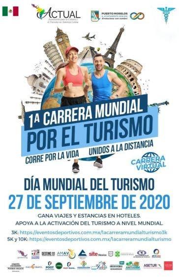 Anuncian la 1a Carrera Mundial por el Turismo a realizarse el próximo 27 de septiembre y al que se han inscrito participantes de 60 países