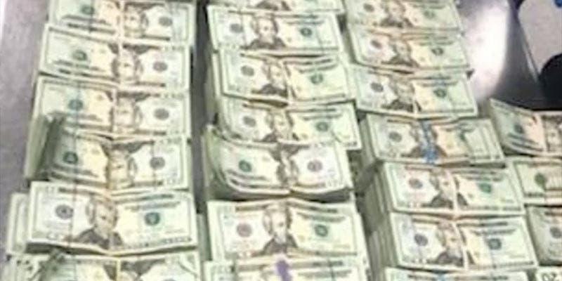 Esconden medio millón de dólares en una silla en Miami