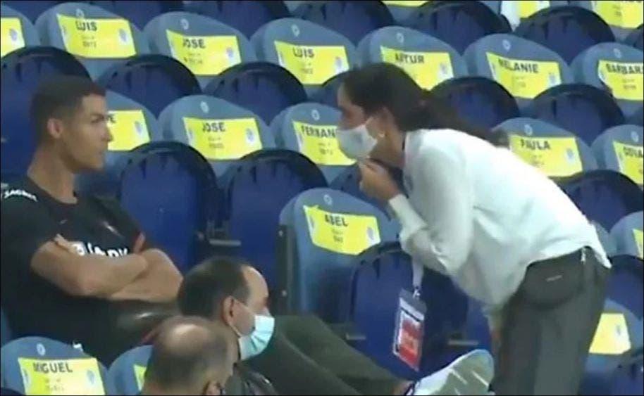 Así regañaron a Cristiano Ronaldo por no usar cubrebocas