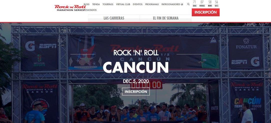 Aún no se confirma si se correrá el Marathón Internacional de Cancún; por lo pronto se mantiene la promoción del evento en la página oficial.