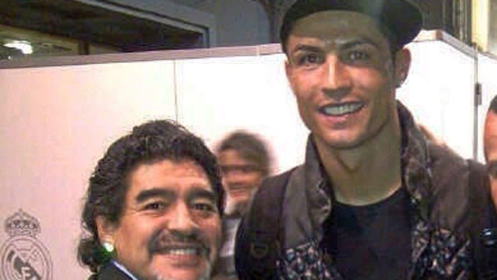 CR7 felicita a Maradona de una forma muy peculiar