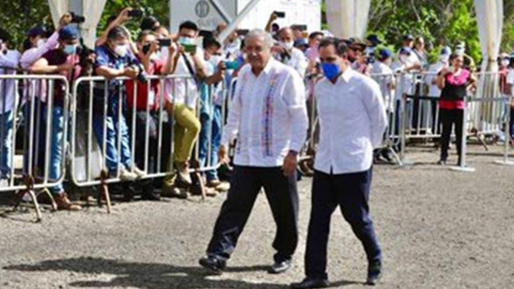 Supervisa AMLO en Yucatán los avances del tren maya en tramo Izamal-Cancún