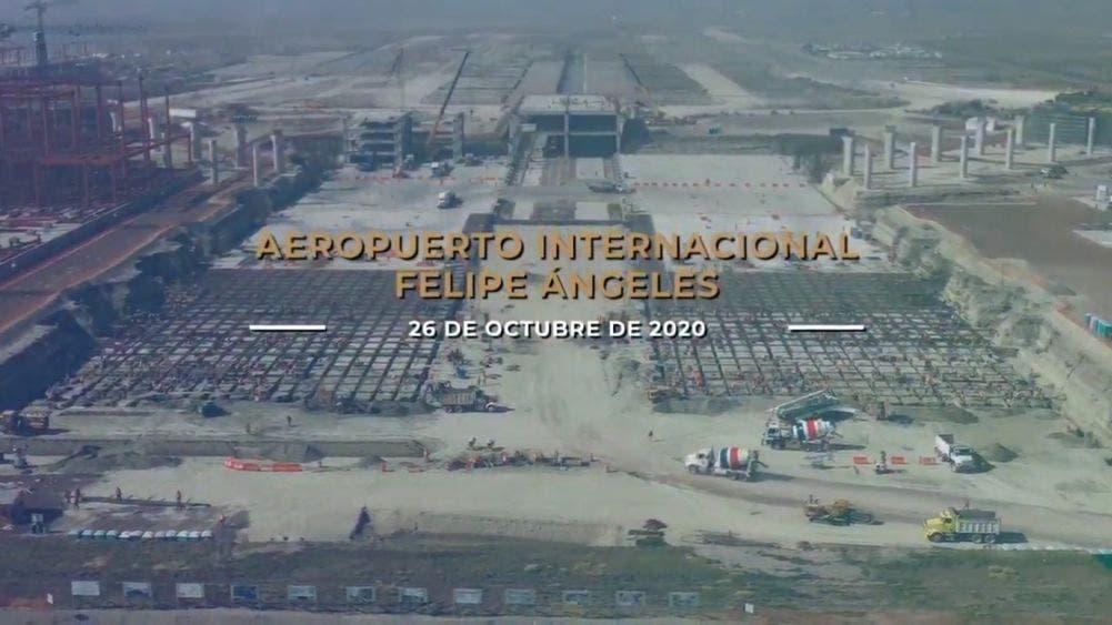 Aeropuerto Felipe Ángeles, obra avanza 40 %, ahorro de 6.1 %